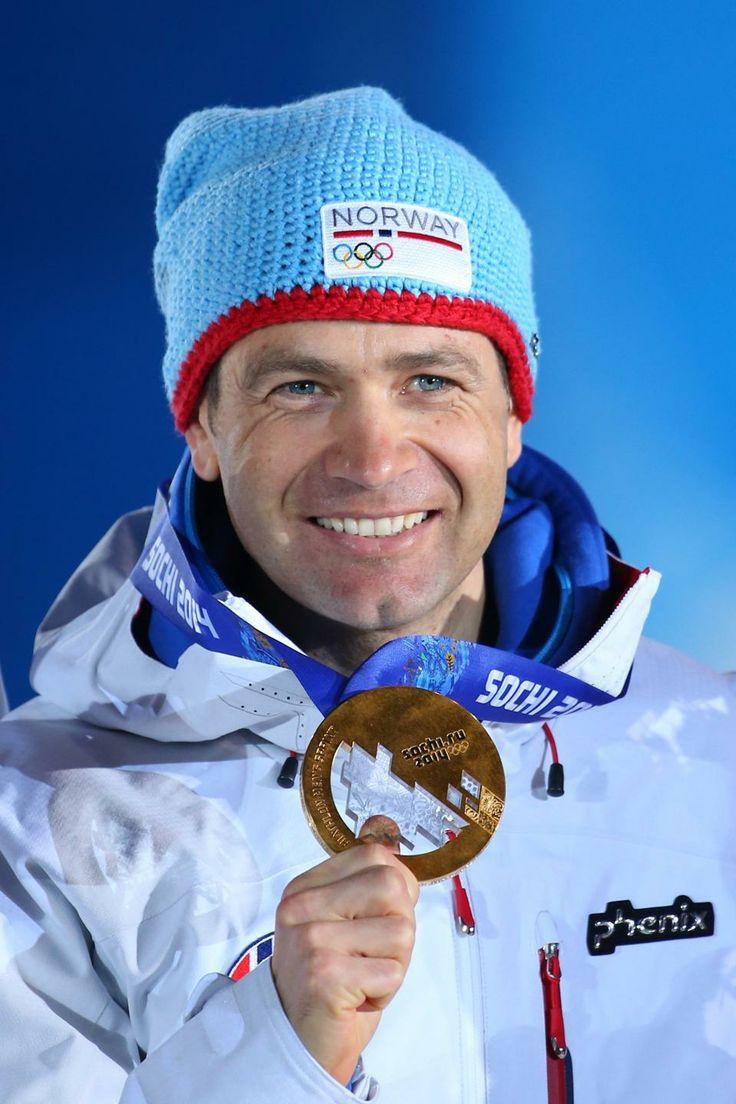 BIATHLON MEN'S SPRINT 10km:  Gold medalist Ole Emar Bjoerndalen of Norway