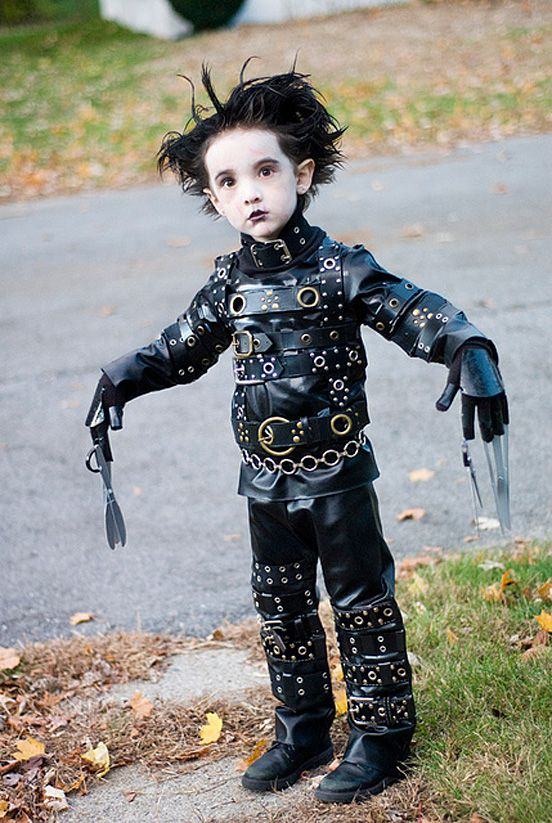 mini edward scissor hands costume too cute for halloween - Joker Halloween Costume Kids
