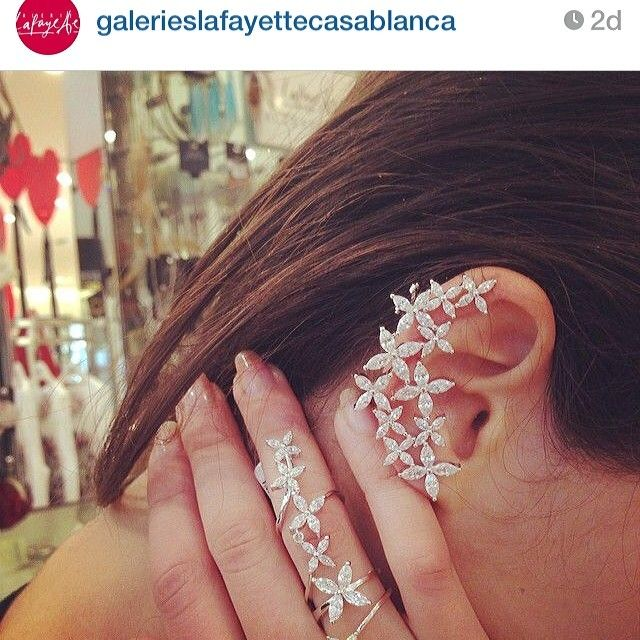 Repost APM Marquise picture from Galeries Lafayette#marquise#collection#apmmonaco #jewelry#bijoux#earcuff#ring#baguearticulee#zirconia#
