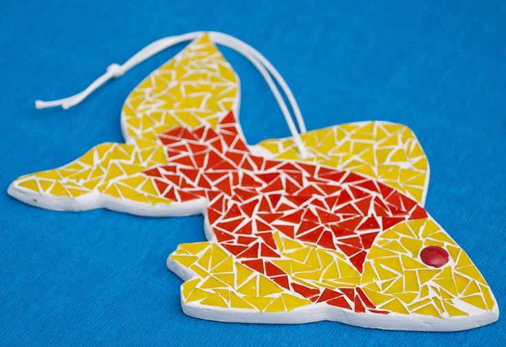 """Вот бы иметь свою золотую рыбку, которая бы исполняла все многочисленные желания :)  Настенный декор """"Золотая рыбка"""".  M10039 http://www.kamos.com.ua/m10039"""