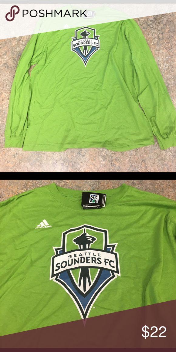 Seattle Sounders FC adidas Long Sleeve 2XL Shirt Seattle Sounders adidas Rave Green Logo Long Sleeve Shirt. Size XXL. Adidas Shirts Tees - Long Sleeve