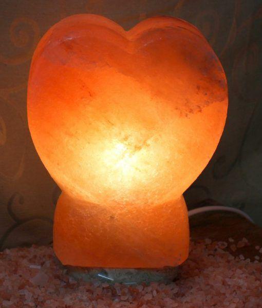 Crafted Himalayan Heart Salt Lamp | Himalayan Salt Factory Up right heart design