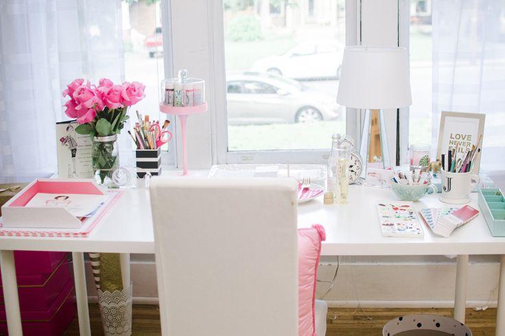 Home Office / Escritório: fofo e ilustrado - Casinha Arrumada
