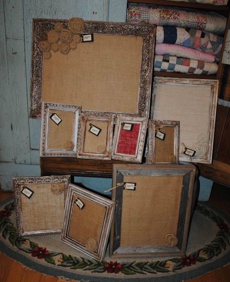 use an antique frame as a message board...love for home or classroom