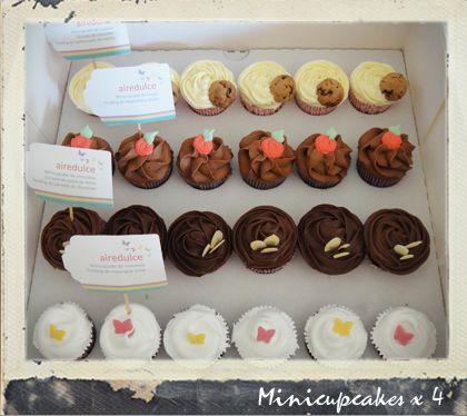Presentación de minicupcakes