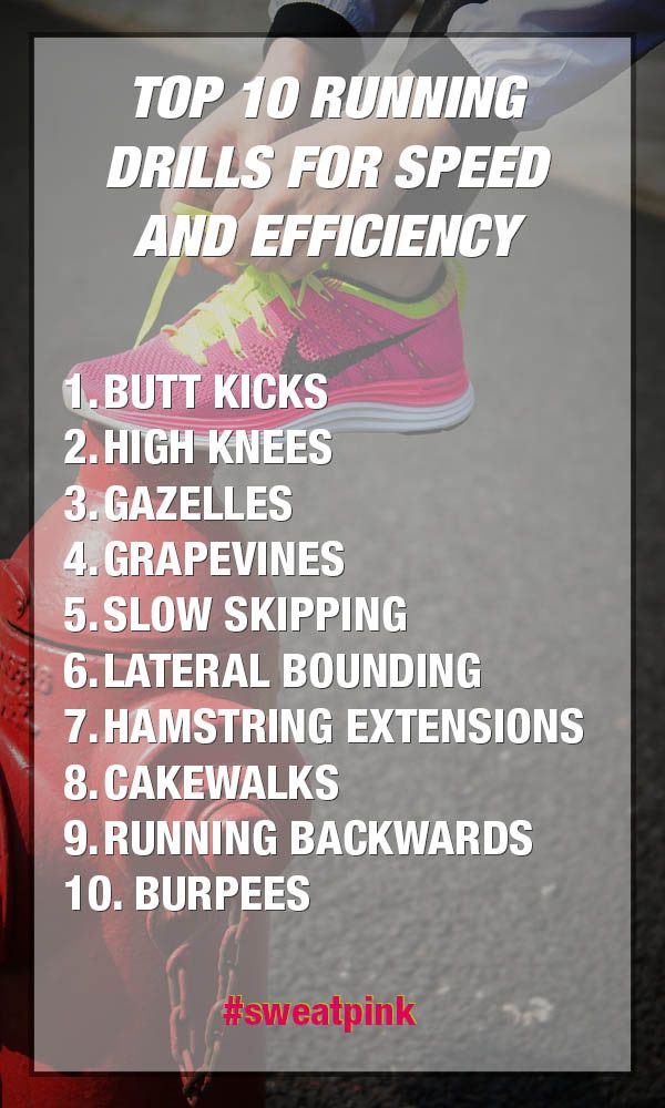 Top 10 Running Drills for speed and efficiency