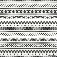 Vector: Tribal hand drawn line geometric mexican ethnic seamless pattern. Border. Wrapping paper. Scrapbook. Doodles. Vintage tiling. Handmade native vector illustration. Aztec background. Ink graphic texture