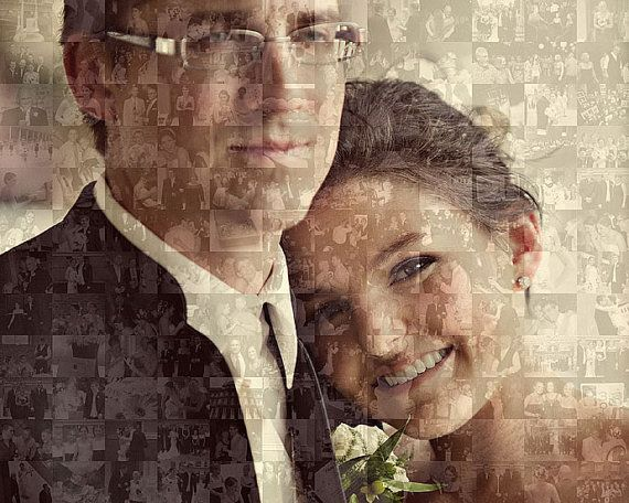 Custom Personalized Wedding Photo Collage by 101MemoriesMosaics, $75.00