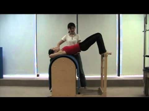 Bridging on ladder barrel - Exercise for lumbar disc prolapse - YouTube