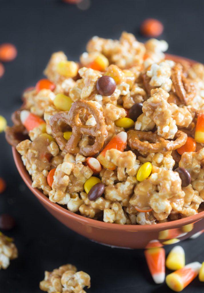 Peanut Butter Popcorn Party Mix