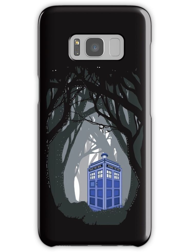 public phone at haunted woods Samsung Galaxy S3,S4,S5,S6,S7,S8 Cases & Skins #Case #CellPhone #iPhonecase #hardcase #accessories #DoctorWho #tardis #britishphonebox #theDoctorWho #whovian #badwolf #werewolf #parody #TVseries #abstract #VanGogh