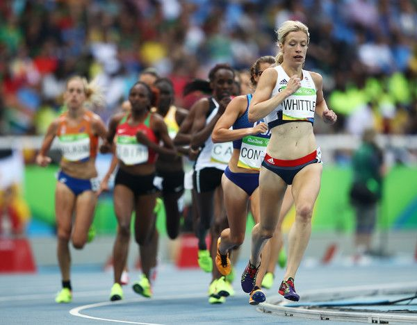 Laura Whittle of Great Britain competes during the Women's 5000m Round 1 - Heat 1 on Day 11 of the Rio 2016 Olympic Games at the Olympic Stadium on August 16, 2016 in Rio de Janeiro, Brazil.