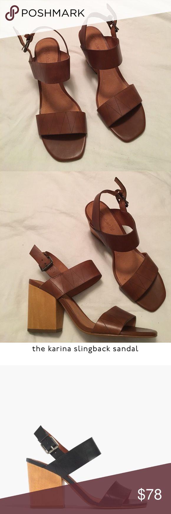 Madewell Karina slingback sandal Madewell Karina slingback sandal tan - 8 - new with box Madewell Shoes Heels