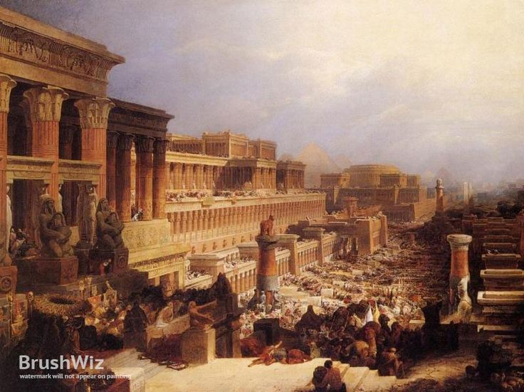 The Israelites Leaving Egypt by David Roberts - Oil Painting Reproduction - BrushWiz.com