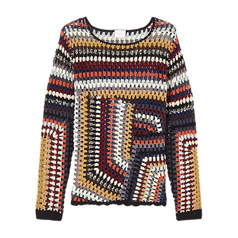 Buy East Hand Crochet Jumper, Multi Online at johnlewis.com