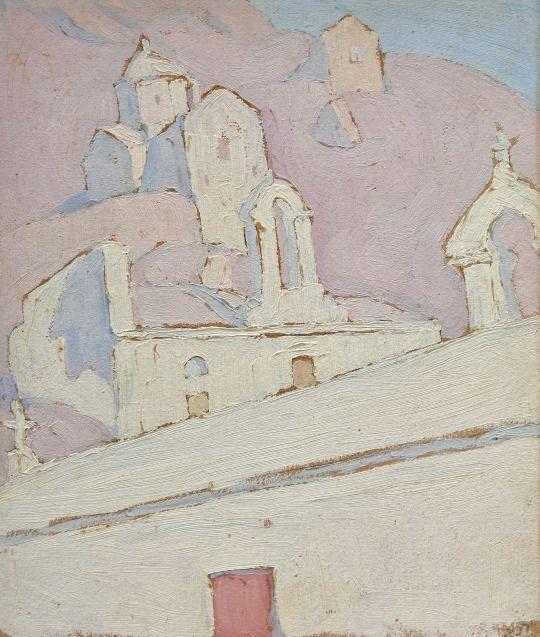 Spyros Papaloukas (Greek, 1892 - 1957)  Little Church Aegina, N/D