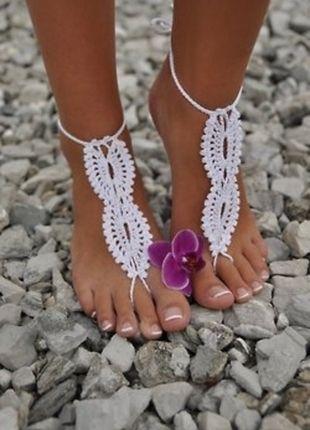 Kup mój przedmiot na #vintedpl http://www.vinted.pl/damskie-obuwie/inne-obuwie/13805806-hit-lata-2016-szydelkowa-ozdoba-na-noge