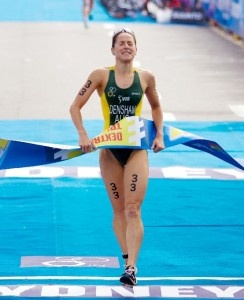 Australia's bravest triathlete will now leave with a maiden Dextro Energy ITU Triathlon World Championship Series win under her belt and a real shot at her second Olympics.