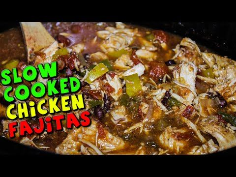 Slow Cooked CHICKEN Fajitas Recipe - YouTube Just made this tonight and it's so good!