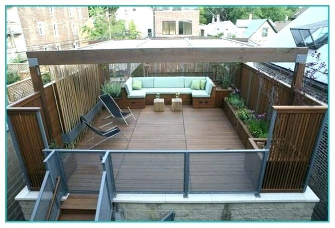Flat Roof Garage With Deck Plans Google Search Deck Roof Design House Planter