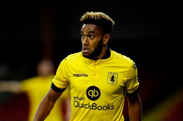 Jordan Amavi in action during Villa's pre-season match against Swindon