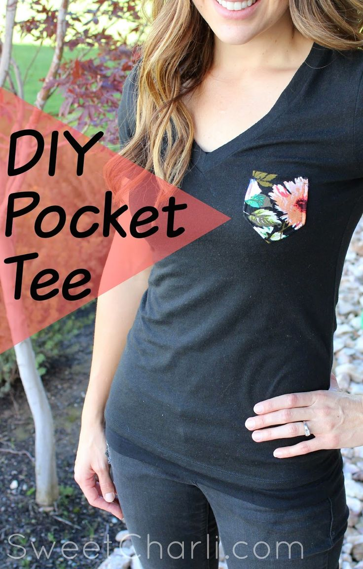 This would be a cute Christmas gift! DIY Pocket Tee