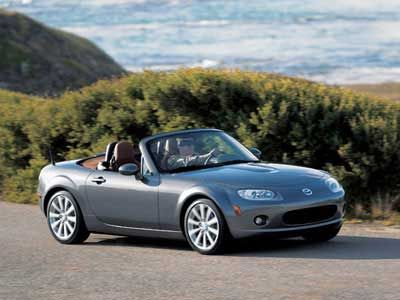 Mazda MX5 Miata-Mine is a 2009, his name is 'George' and I love him !!! Perfect for the Central Coast.