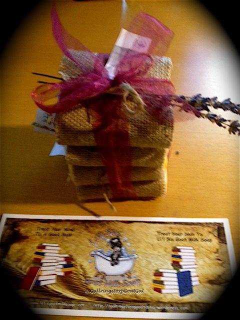 Li'l Sis Goat Milk Soap gift wrapping and Li'l Sis Goat Milk Soap Bookmark