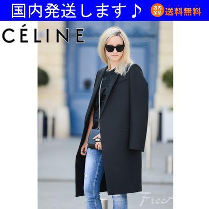 国内発☆有名ブロガー愛用☆黒のウールコート 14SS☆セリーヌ