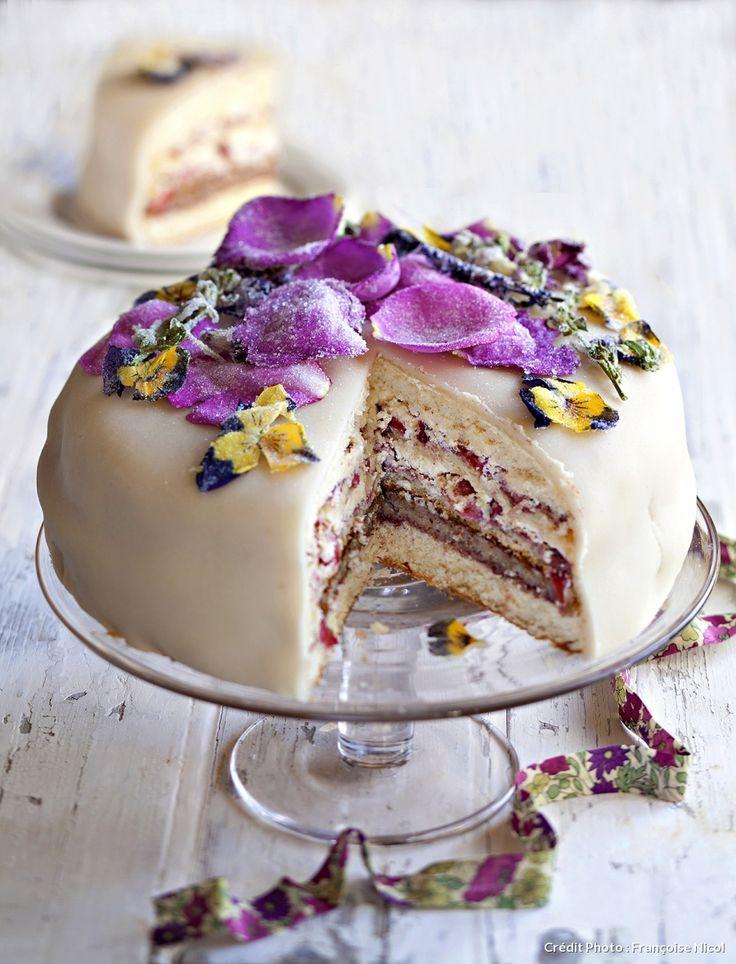 Recette de gâteau de rêve aux fraises.