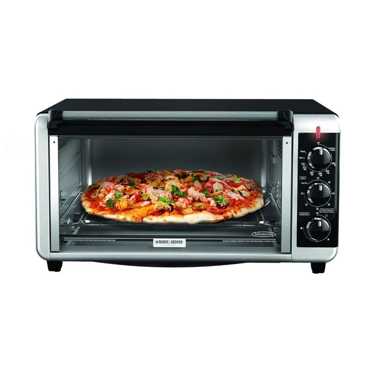 Black & Decker 8-Slice Extra Wide Toaster Oven - Pizza - Kitchen Tool - BAKE