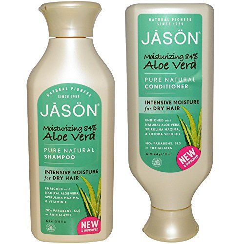JASON All Natural Organic Aloe Vera Shampoo and Conditioner Bundle with Dry Hair Treatment Product, Calendula, Chamomile and Grapefruit, Sulfate Free, Paraben Free, Gluten Free, Vegan, 16 fl oz each - http://essential-organic.com/jason-all-natural-organic-aloe-vera-shampoo-and-conditioner-bundle-with-dry-hair-treatment-product-calendula-chamomile-and-grapefruit-sulfate-free-paraben-free-gluten-free-vegan-16-fl-oz-each/