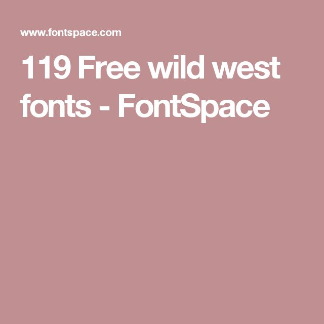 119 Free wild west fonts - FontSpace