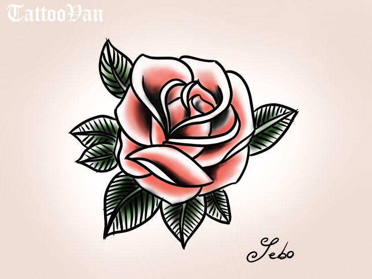 rose tattoo oldschool dessin sebo tattoos tattoos. Black Bedroom Furniture Sets. Home Design Ideas