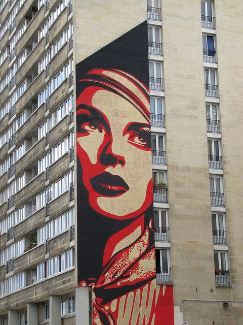 street art & graffiti Paris - Obey by _Kriebel_, via Flickr