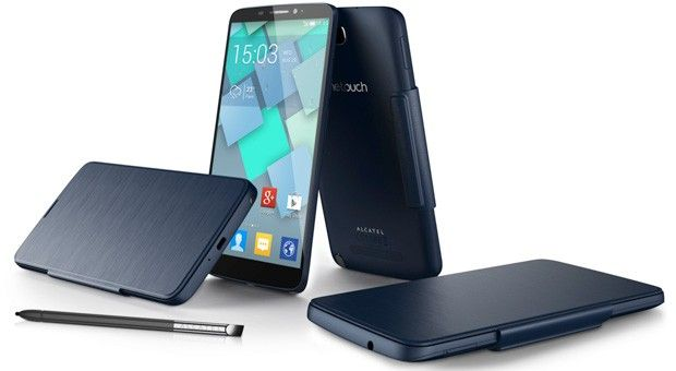 Alcatel unveils 6-inch One Touch Hero smartphone with E Ink and LED cover options