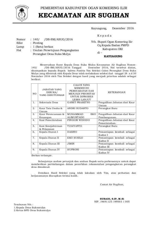Contoh Surat Pengantar Permohonan Rekomendasi Aparat Pemerintahan Surat Pemerintah Kepala Sekolah