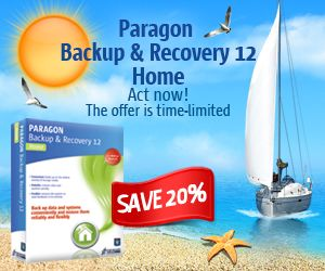 Paragon Backup & Recovery 12 Home discount 20%