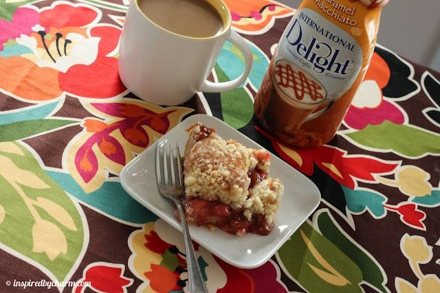 Isnt this amazing? {Strawberry Rhubarb Coffee Cake} Im actually drooling here! Thanks Michael! -