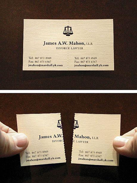 """Il bigliettino da visita di un avvocato """"divorzista"""""""
