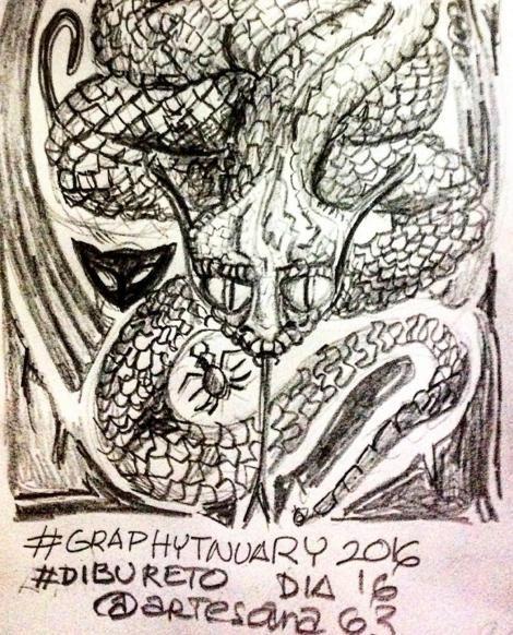 HenArte & TIC's: #graphitnuary2017 #DibuRetosDía 20 Por el placer d...