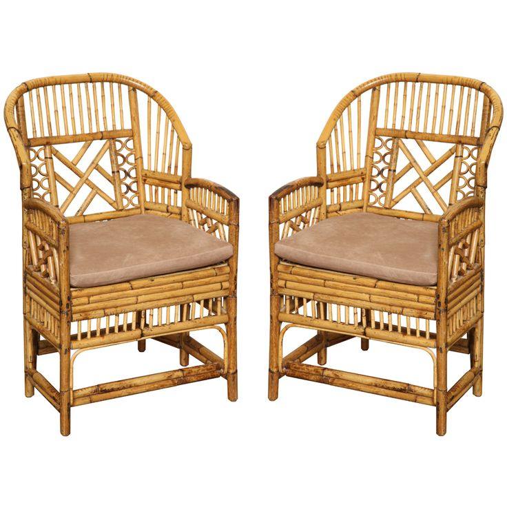 1stdibs.com | Pair of Vintage Rattan Armchairs c. 1960 - Best 215 Vintage Rattan Chairs Ideas On Pinterest Wicker, Rattan