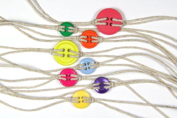Cute as a button bracelet in bright by BasketfulOfTrinkets on Etsy, $1.50