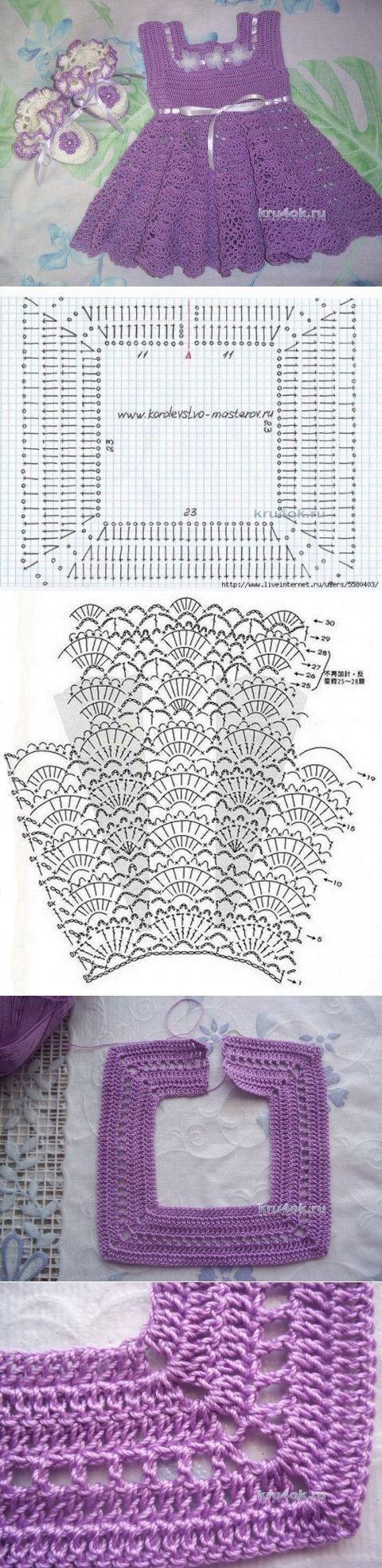 Сарафан для девочки. Работа Татьяны Власенко - вязание крючком на kru4ok.ru [] #<br/> # #Crochet #Girls,<br/> # #Crochet #Dresses,<br/> # #Crochet #Baby,<br/> # #Bicarbonate,<br/> # #Children,<br/> # #Posts,<br/> # #Knit #Dresses,<br/> # #Bebe,<br/> # #Crochet<br/>