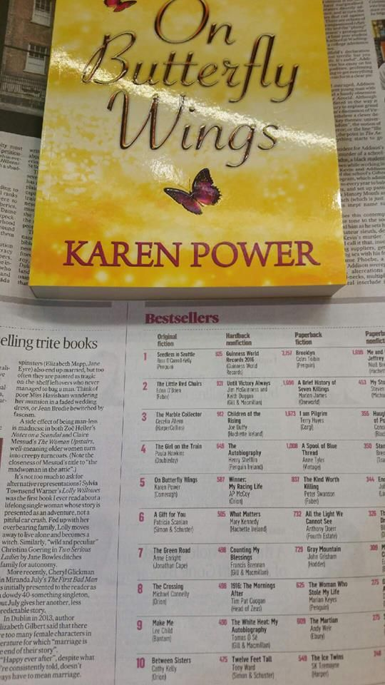 On Butterfly Wings book launch in The Book Centre Waterford and book signings around Ireland.  www.karenpowerauthor.com