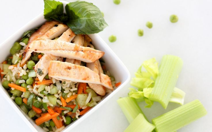 Pack a healthy, budget-friendly lunch using this recipe for a chicken and brown rice bowl. Grilled lean chicken is served alongside a portion of brown ...