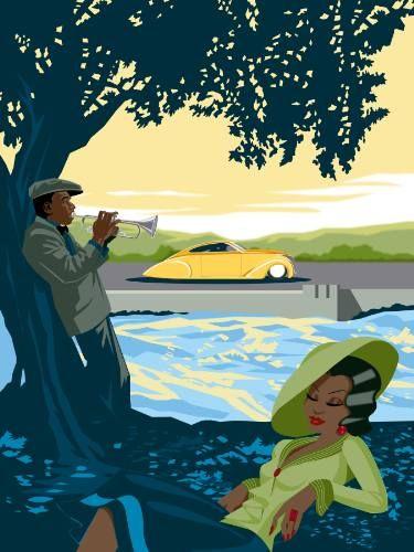 "Saatchi Art Artist Rex Perry; New Media, ""Jazz Serenade"" #art"