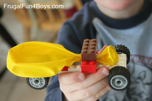 Lego Fun Friday: Balloon Powered Car Building Challenge