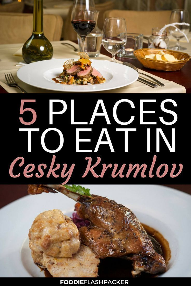 Best Cesky Krumlov Restaurants Czechfood Cesky Krumlov Czech Recipes Travel Food