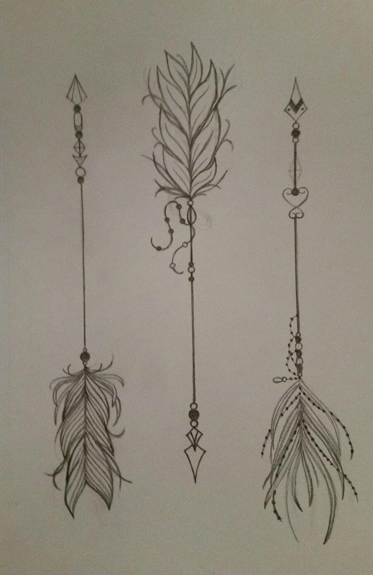 Pretty feather arrows